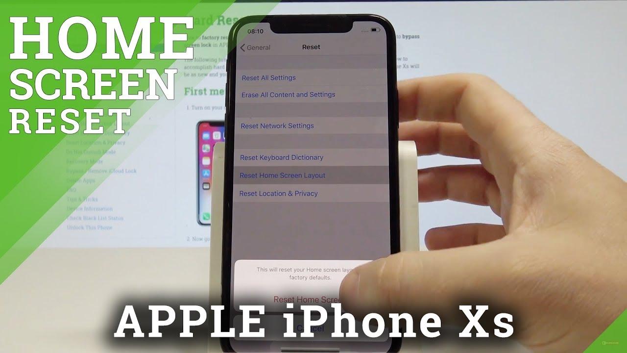 Layout des Startbildschirms zurücksetzen APPLE iPhone Xs, Mehr