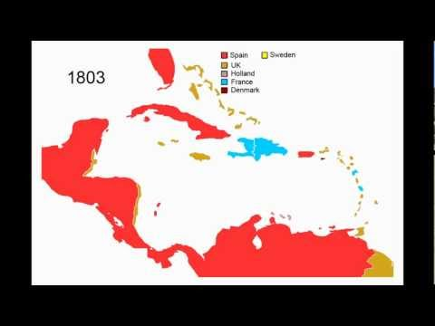 History Of Central America And The Caribbean - Animated Map
