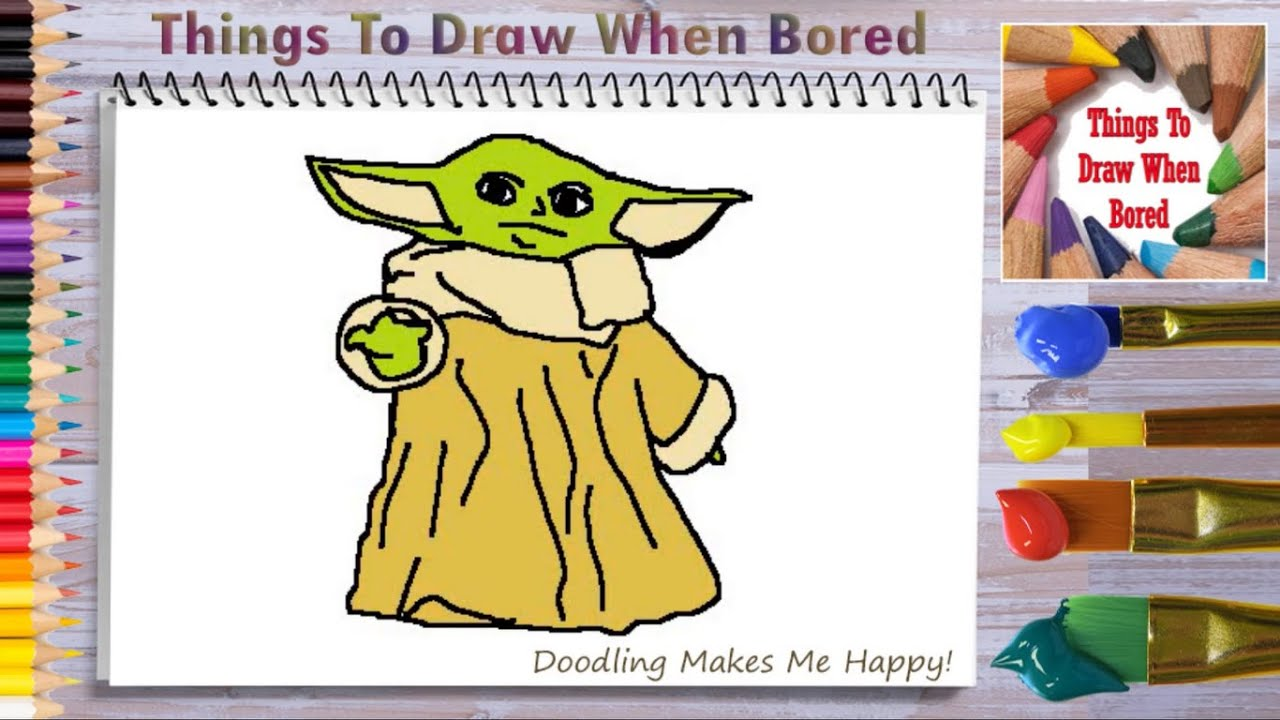 How To Draw Baby Yoda ( How To Draw Baby Yoda Step By Step ...