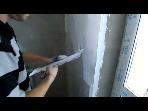 видео: Шпаклевка стен, своими руками, под обои, под покраску, обучающее видео, шпатлевка стен
