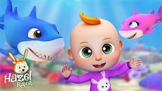 Baby Shark + More Nursery Rhymes & Kids Songs - Hazel Rabbit