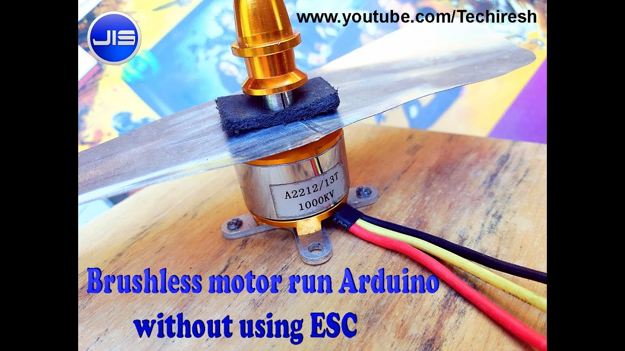 Brushless Motor Run Arduino Without Using Esc Youtube An Electric Toothbrush Speed Control Of A Dc Electroboom