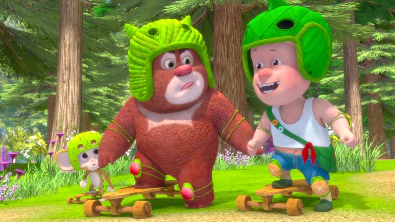 Забавные Медвежата | Научимся кататься на скейтборде - Сборник | Kedoo Мультики для детей