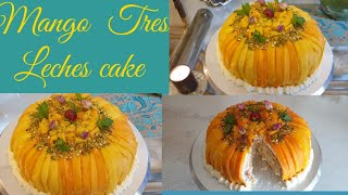 Mango Tres Leches Cake  Three Milk Cake Recipe by Yummy Recipes