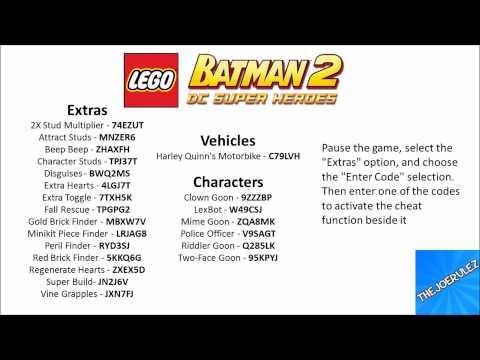 Lego Batman 2 Dc Super Heroes Cheat Codes Youtube