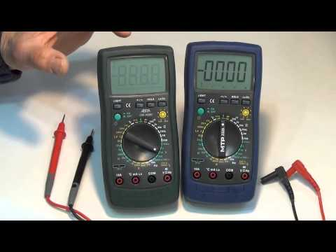 Digital Multimeter DMM initial setup & checks