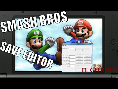 TUTORIAL: SUPER SMASH BROS 3DS SAVE EDITOR