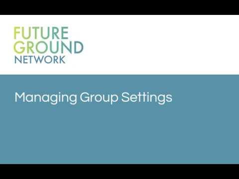 4. Managing Group Settings