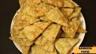 Make Namkeen Papdi with leftover Panipuri Pani | Panipuri pani Ki Papdi | Tea Time Snack Recipe