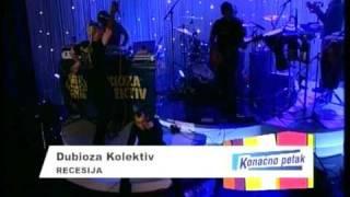 """DUBIOZA KOLEKTIV - Recesija (live u emisiji """"Konacno petak sa Majom i Dejanom) 15.10.2010."""