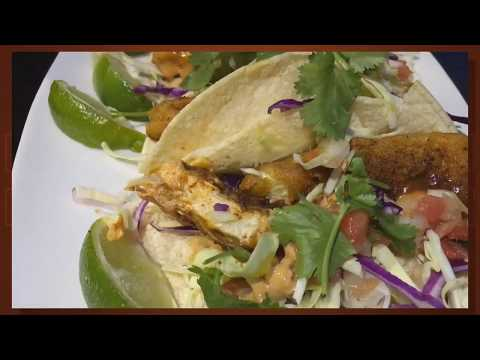 Fish Tacos @ Vegan Nirvana Restaurant Huntington Beach California