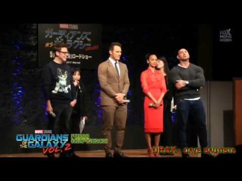 Guardians of the Galaxy Vol. 2 Press Con in Tokyo