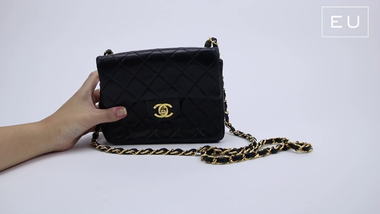 552097f87 Bolsa Chanel Classic Flap Mini Preta | Etiqueta Única - YouTube