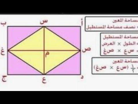حساب محيط ومساحه وقطر المعين Youtube