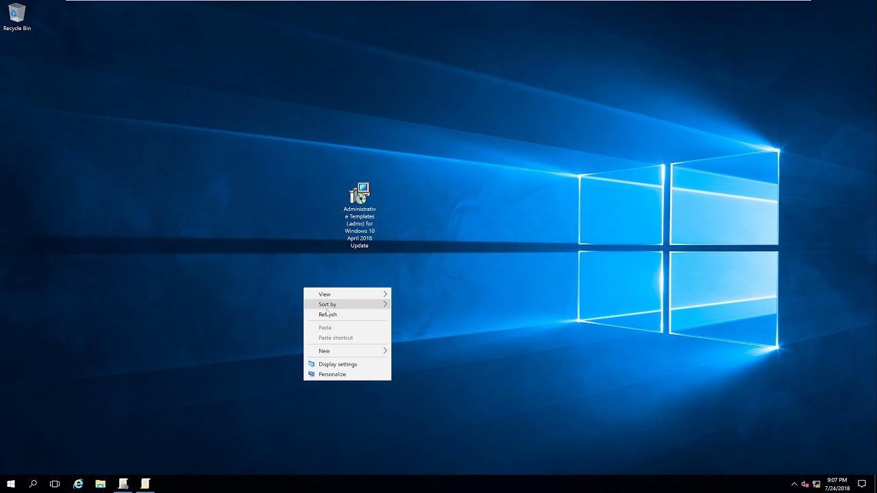Import Windows 10 ( ADMX) into GPO