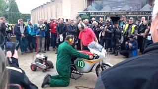 Mike Hailwood's 250cc 4 cylinder Honda race bike.