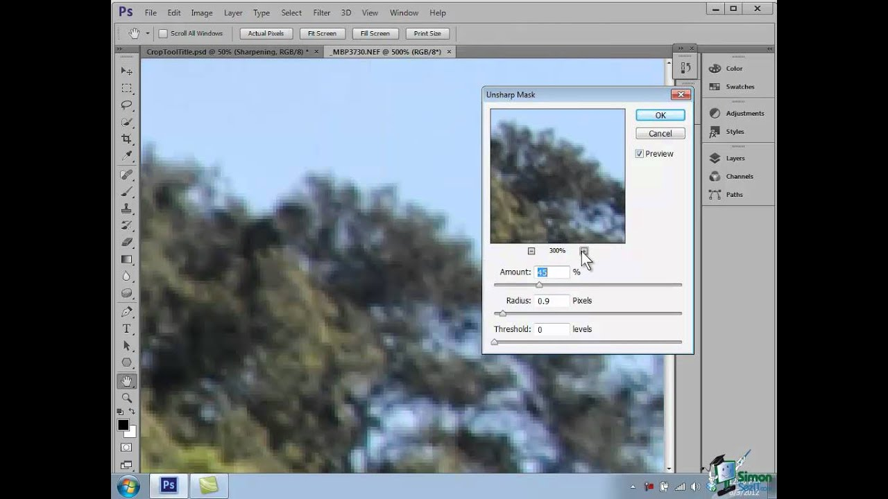 Photoshop cs6 tutorial sharpening your images youtube baditri Choice Image