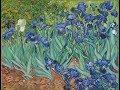 Irises by Vincent van Gogh, detailed views