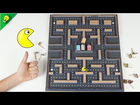 How to Make Amazing PACMAN 2 Game from Cardboard - [No.9] Amazing Game from Cardboard