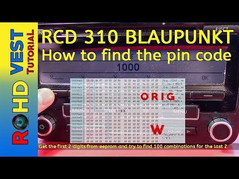 RCD 310 Blaupunkt - How To Find The Pin Code