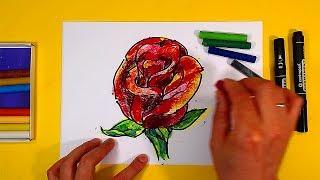 Как нарисовать РОЗУ цветок / Уроки рисования для начинающих