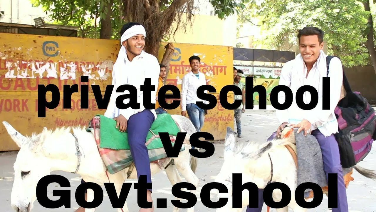 Hindi comedy moral drama for students l Pravate School V/s Government School