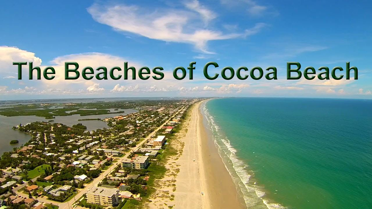 The Beaches Of Cocoa Beach Florida Aerial Tour Video