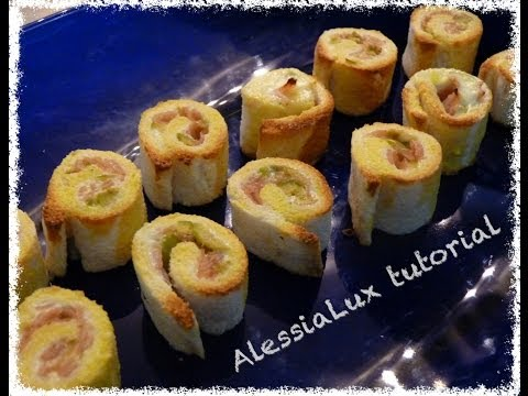 come fare i rustici dietetici senza pasta sfoglia con prosciutto olive tutorial finger food