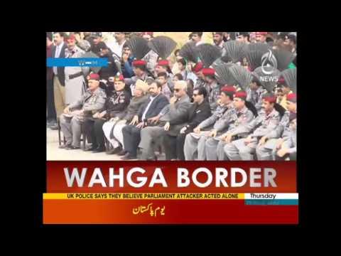 Pak Rangers ROARING at India on Wagah on Pakistan Day