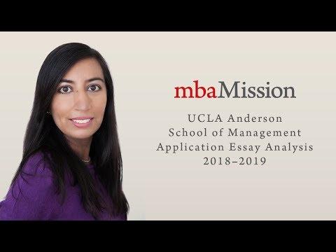 UCLA Anderson Application Essay Analysis, 2018–2019