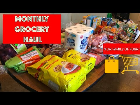 Once-a-month GROCERY HAUL For Family Of Four! || Ontario, Canada || Meal Plan