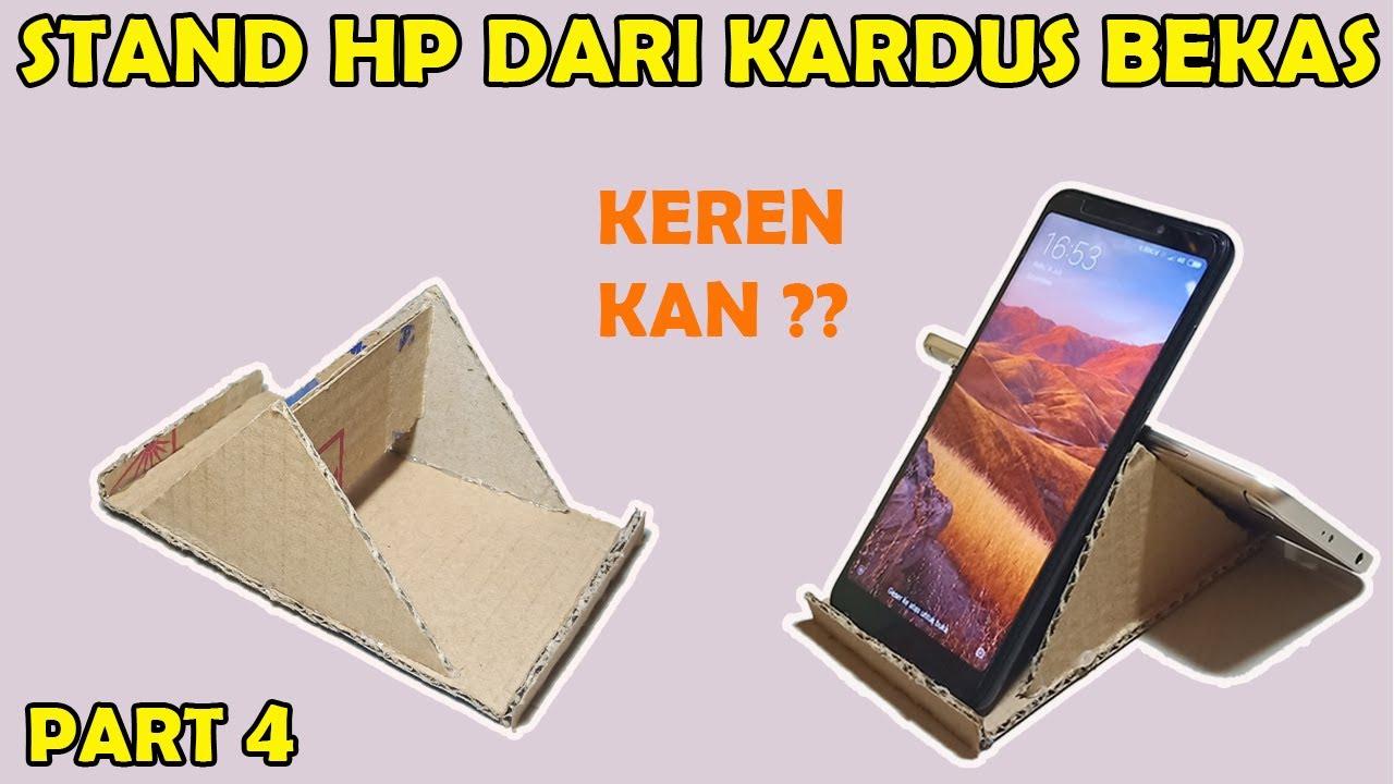 Cara Membuat Dudukan HP dari Kardus Bekas Mudah dan Keren   How to Make  Phone Holder From Cardboard