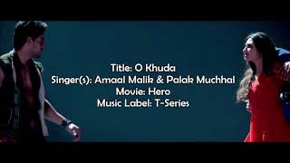 O khuda lyrics Hero 2018