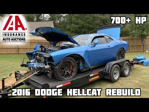 Rebuilding a Wrecked 2016 Dodge Hellcat