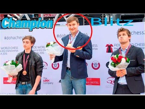 Nuevo Campeón del mundo de ajedrez Blitz  Sergey Karjakin!!