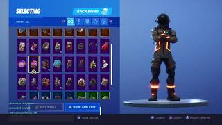Fortnite Battle Royale Dark Voyager Skin With Every Back Bling And Contrail