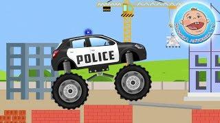 Мультики про машинки. Полицейская машина  Мультик пазл для детей