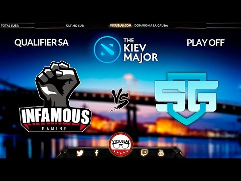 INFAMOUS vs SG - 2 - SA QUALIFIER - MAJOR de KIEV - Viciusla