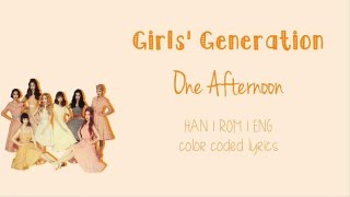 Watch in hd! girls' generation (소녀시대) - one afternoon (어떤 오후) ( han | rom eng color coded lyrics) colors: taeyeon mint sunny fuchsia tiffany dodger b...