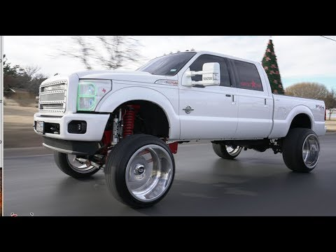 Oil Money Builds A 2012 F250 On A 12 Inch Lift With 26x16