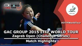 Zagreb Open 2015 Highlights: SHAN Xiaona vs JO Yujin (R 16)