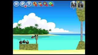 Angry Birds Facebook Surf And Turf Level 7 Walkthrough 3 Star