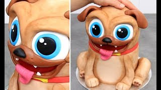 Chocolate DOG Cake by Cakes StepbyStep