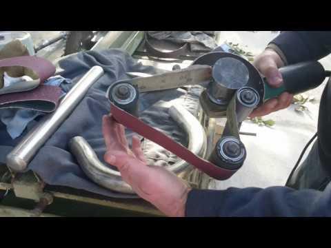 Шлифовка трубы из нержавейки, с помощью УШМ.