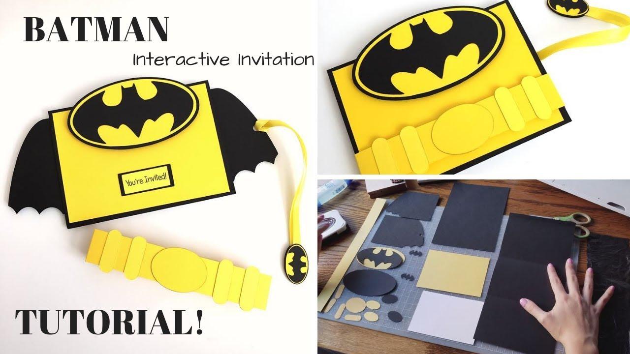 interactive batman 3d invitation youtube