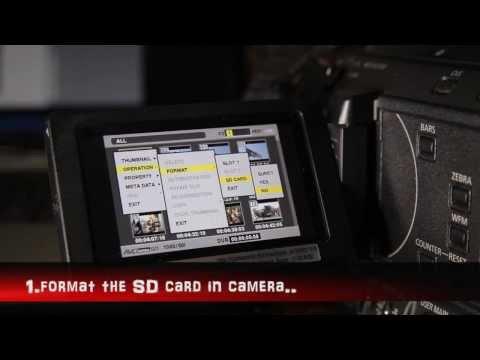 Panasonic HPX-250 firmware update