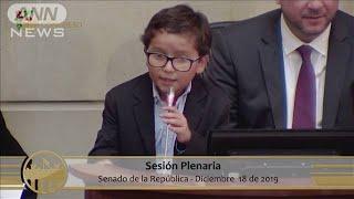 """""""南米のグレタ""""10歳少年が抗議活動で環境対策訴え(19/12/27)"""
