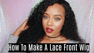 How To Make A Lace Front Wig From Start To Finish | Bleach Knots, Slay My Wig | Sunber Hair