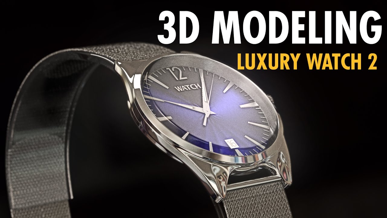 3D luxury watch model (2) + free download link | Cinema 4D