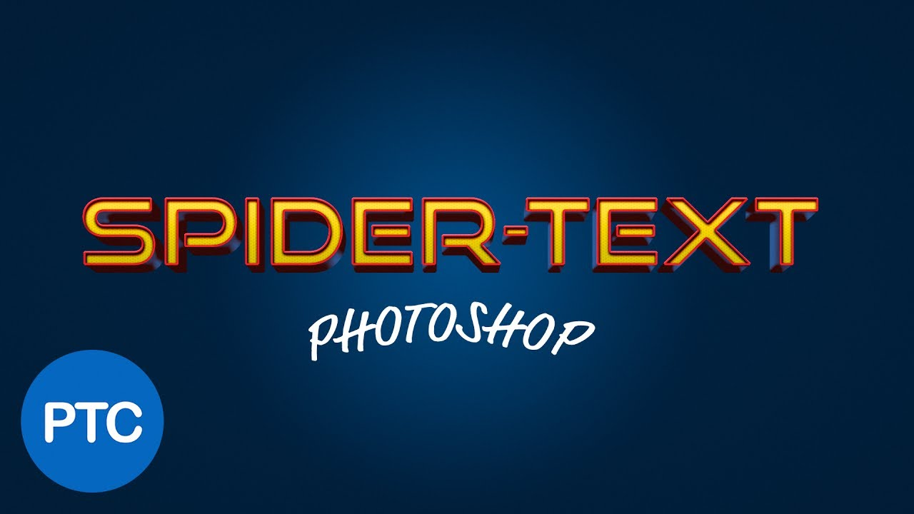 Spider-Man Homecoming Text Effect in Photoshop - Layer Styles Tutorial